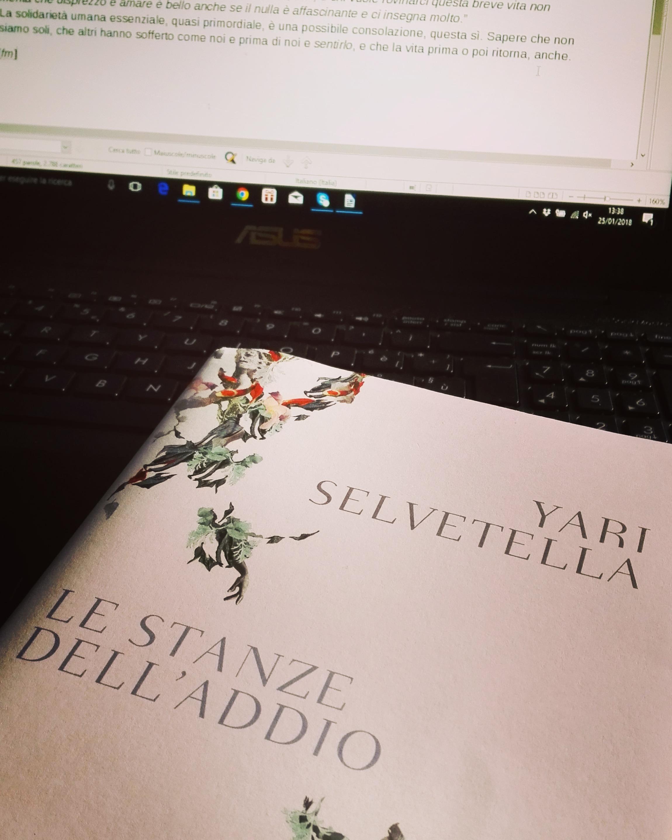"""Letti per voi: """"Le stanze dell'addio"""", di Yari Selvetella"""